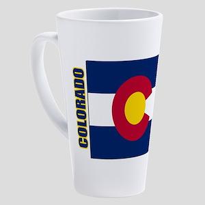 Colorado Flag 17 oz Latte Mug