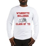wyandotte bulldogs class of 1973 Long Sleeve T-Shi