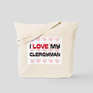 I Love My Clergyman Tote Bag