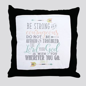 Joshua 1:9 Bible Verse Throw Pillow