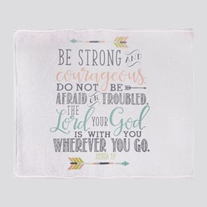 Joshua 1:9 Bible Verse Throw Blanket