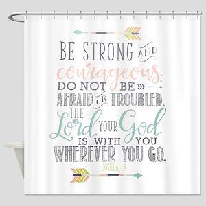 Joshua 19 Bible Verse Shower Curtain