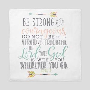 Joshua 1:9 Bible Verse Queen Duvet