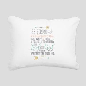 Joshua 1:9 Bible Verse Rectangular Canvas Pillow