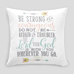 Joshua 1:9 Bible Verse Everyday Pillow