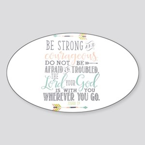 Joshua 1:9 Bible Verse Sticker