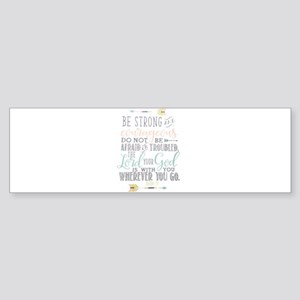 Joshua 1:9 Bible Verse Bumper Sticker