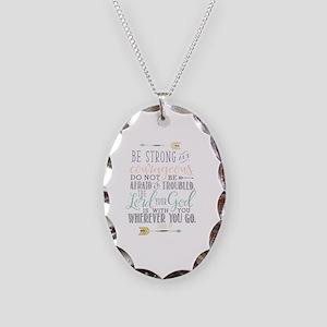 Joshua 1:9 Bible Verse Necklace Oval Charm