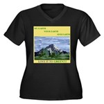 EcoFriendly Women's Plus Size V-Neck Dark T-Shirt