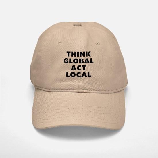 Think Global Baseball Baseball Cap