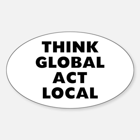 Think Global Sticker (Oval)