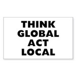 Think Global Sticker (Rectangle)
