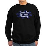 Because Linguist Sweatshirt (dark)