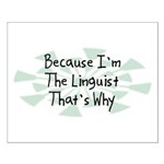 Because Linguist Small Poster