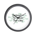 Because Linguist Wall Clock