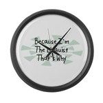 Because Linguist Large Wall Clock
