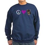 Peace Love and Yorkie Sweatshirt (dark)