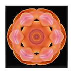 Orange Tulip I Tile Coaster