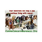 CanineCancerAwareness Rectangle Magnet (10 pack)
