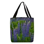Lupin Polyester Tote Bag