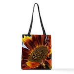 Full Color Sunflower Polyester Tote Bag