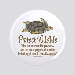 "Protect Sea Turtles 3.5"" Button"