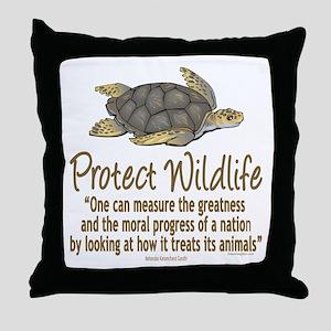 Protect Sea Turtles Throw Pillow