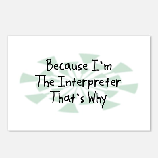 Because Interpreter Postcards (Package of 8)