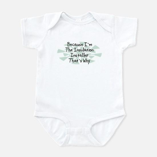 Because Insulation Installer Infant Bodysuit