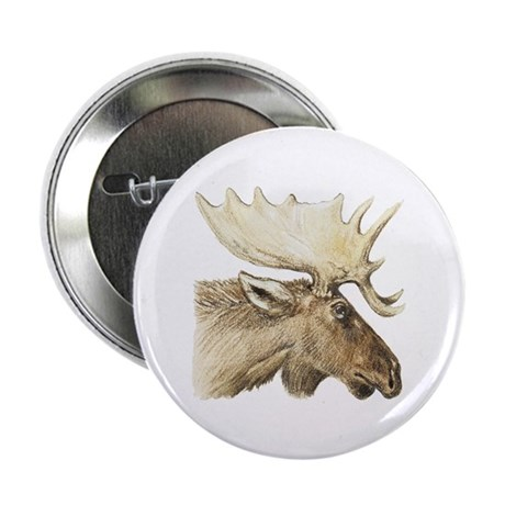 "moose drawing 2.25"" Button (100 pack)"