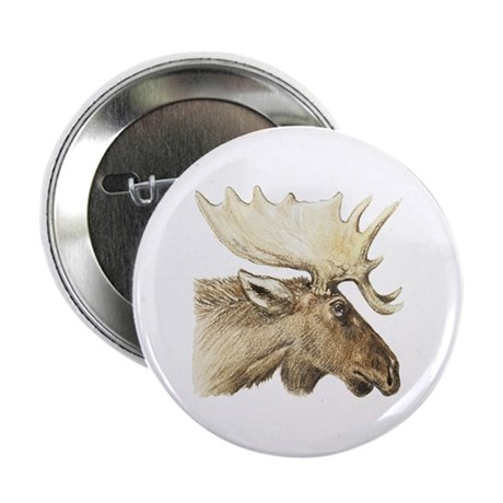 """moose drawing 2.25"""" Button"""