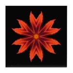Orange Lily II Tile Coaster