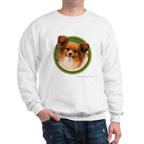 Papillon Art (Green) Sweatshirt