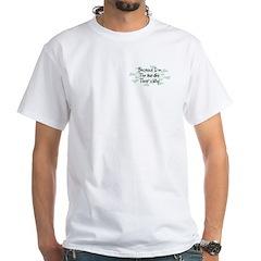 Because Hurdler White T-Shirt