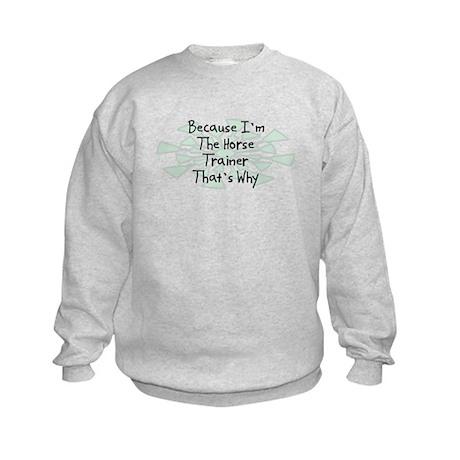 Because Horse Trainer Kids Sweatshirt