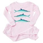 Ichthyosaur Toddler Pink Pajamas