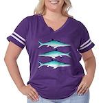 Ichthyosaur Women's Plus Size Football T-Shirt