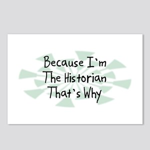 Because Historian Postcards (Package of 8)