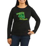 Blow me im Irish Women's Long Sleeve Dark T-Shirt