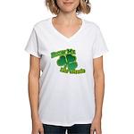 Blow me im Irish Women's V-Neck T-Shirt
