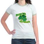 Blow me im Irish Jr. Ringer T-Shirt