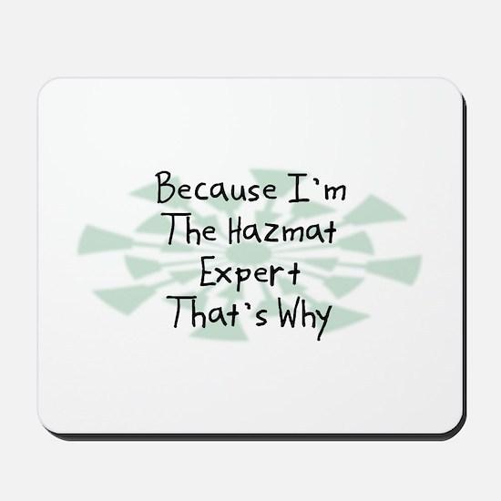 Because Hazmat Expert Mousepad