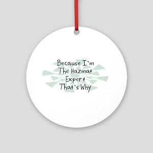 Because Hazmat Expert Ornament (Round)