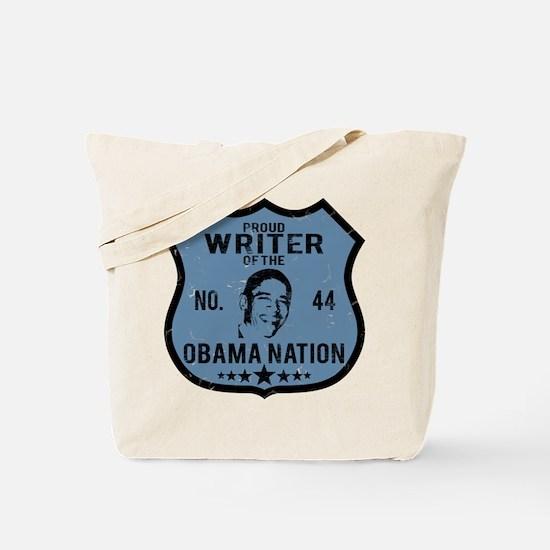 Writer Obama Nation Tote Bag