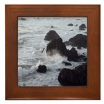 West Coast Waves Framed Tile