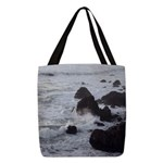 West Coast Waves Polyester Tote Bag