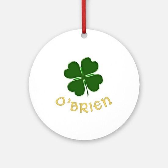 Irish O'Brien Ornament (Round)