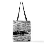 Waves Crashing Polyester Tote Bag