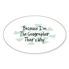 Because Geographer Oval Decal
