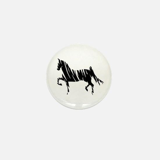 Saddlebred Horse Mini Button
